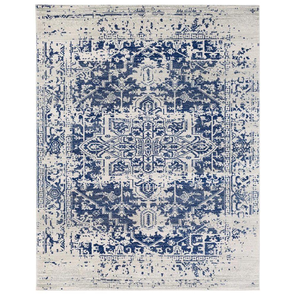 "Surya Harput HAP-1021 7""10"" x 10""3"" Blue, Gray and Beige Area Rug, , large"