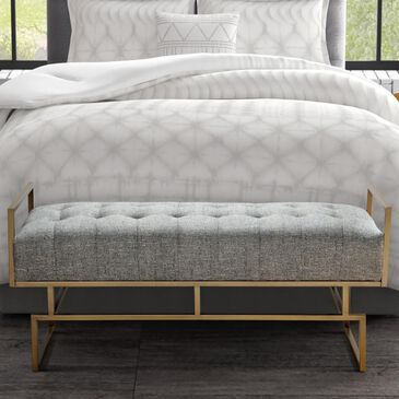 Hampton Park Rickard Accent Bench in Grey/Antique Gold, , large