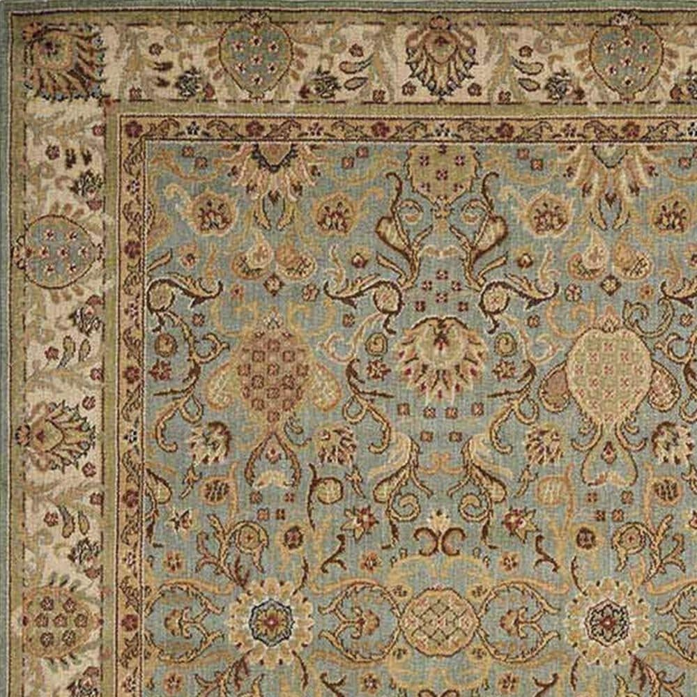 Nourison Lumiere KI602 KI06 3'6'' x 5'6'' Slate Blue Area Rug, , large