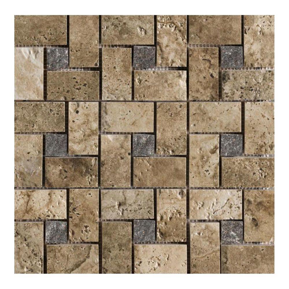 """Marazzi Archaeology Troy 13"""" x 13"""" Porcelain Pinwheel Mosaic Sheet, , large"""