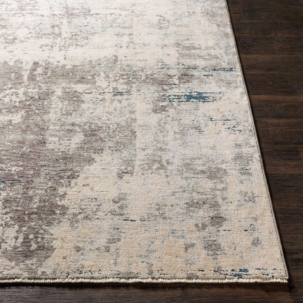 Surya Presidential PDT-2301 5' x 8' Blue, Gray and Orange Area Rug, , large