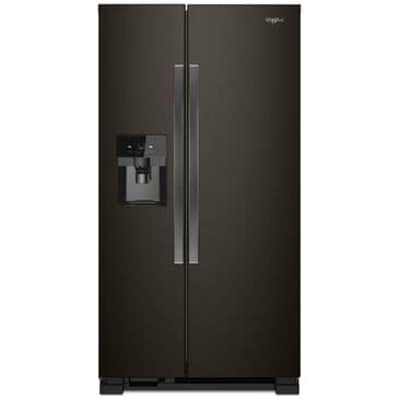 "Whirlpool 21.4 Cu. Ft. 33"" Wide Side-by-Side Refrigerator in Black Stainless, , large"