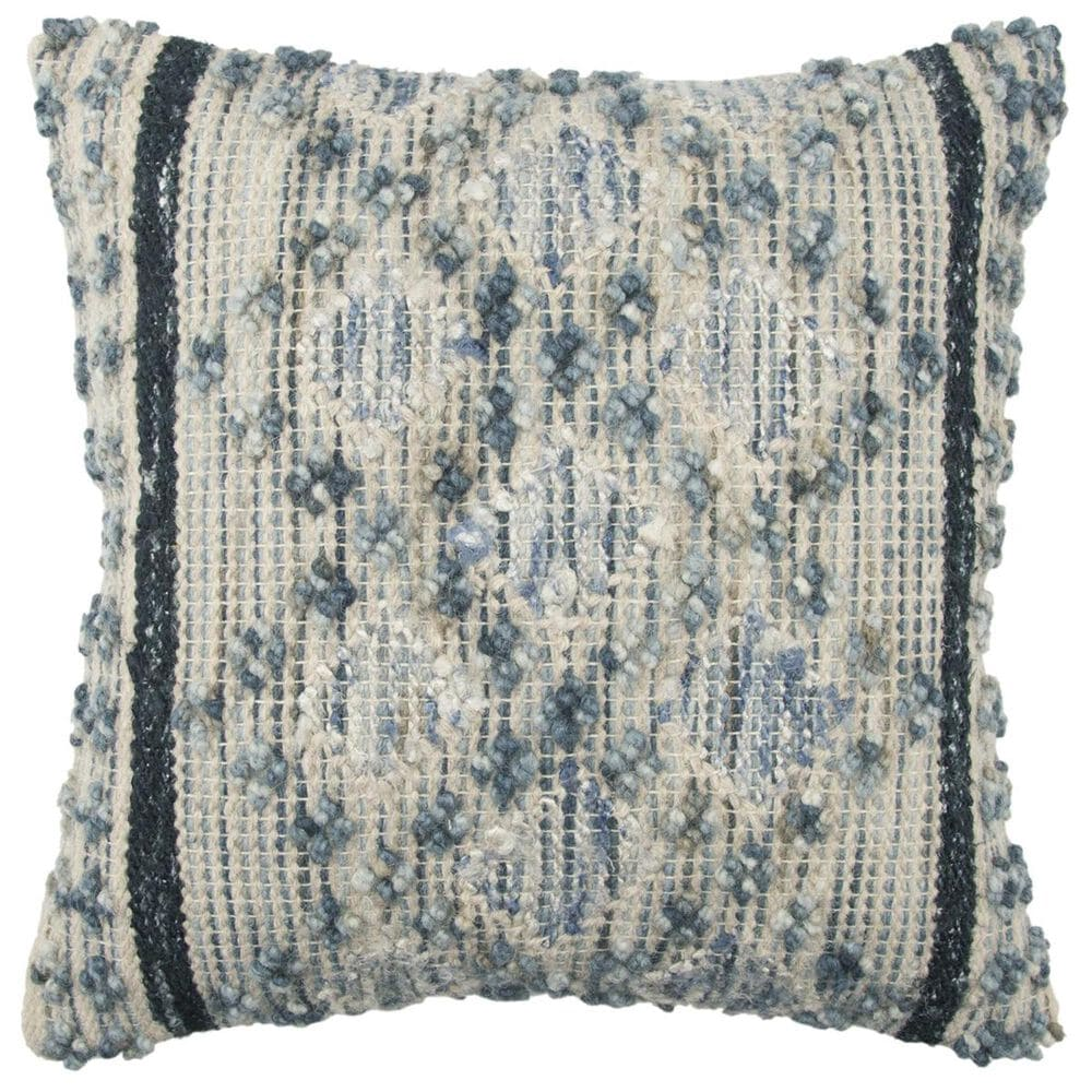 """Rizzy Home 20"""" x 20"""" Pillow Cover in Grayish-Blue, , large"""