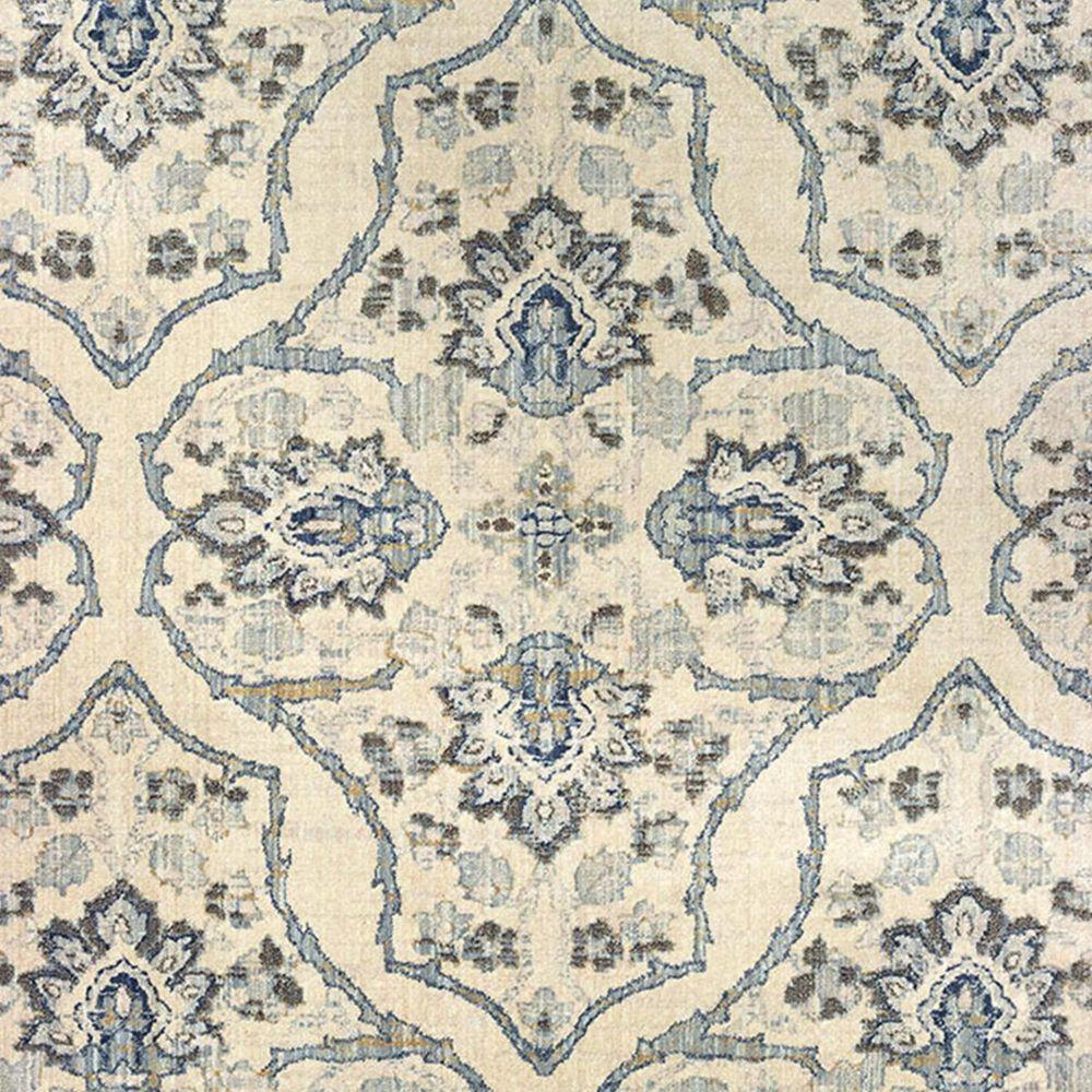 "Oriental Weavers Pandora 5502W 2'3"" x 7'6"" Ivory and Blue Runner, , large"