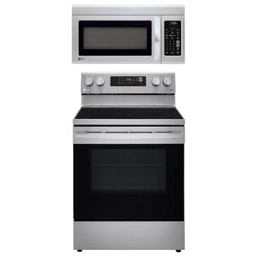 LG 2-Piece Kitchen Package with 6.3 Cu. Ft. Electric Range in Stainless Steel, , large