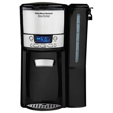 Hamilton Beach BrewStation 12-Cup Coffee Maker with Removable Reservoir in Black and Stainless Steel, , large