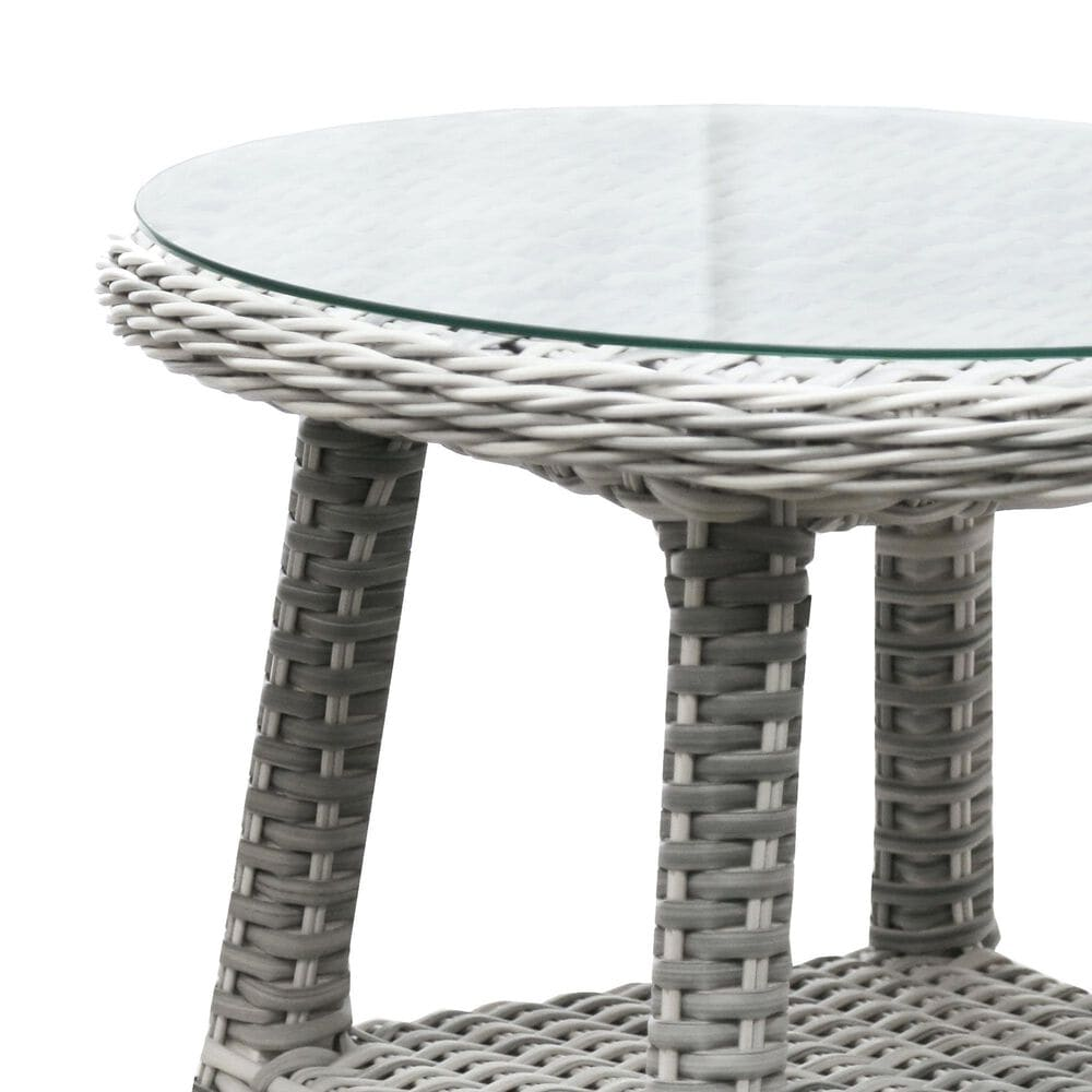 Shoreline Furniture South Beach Round End Table in Ice, , large