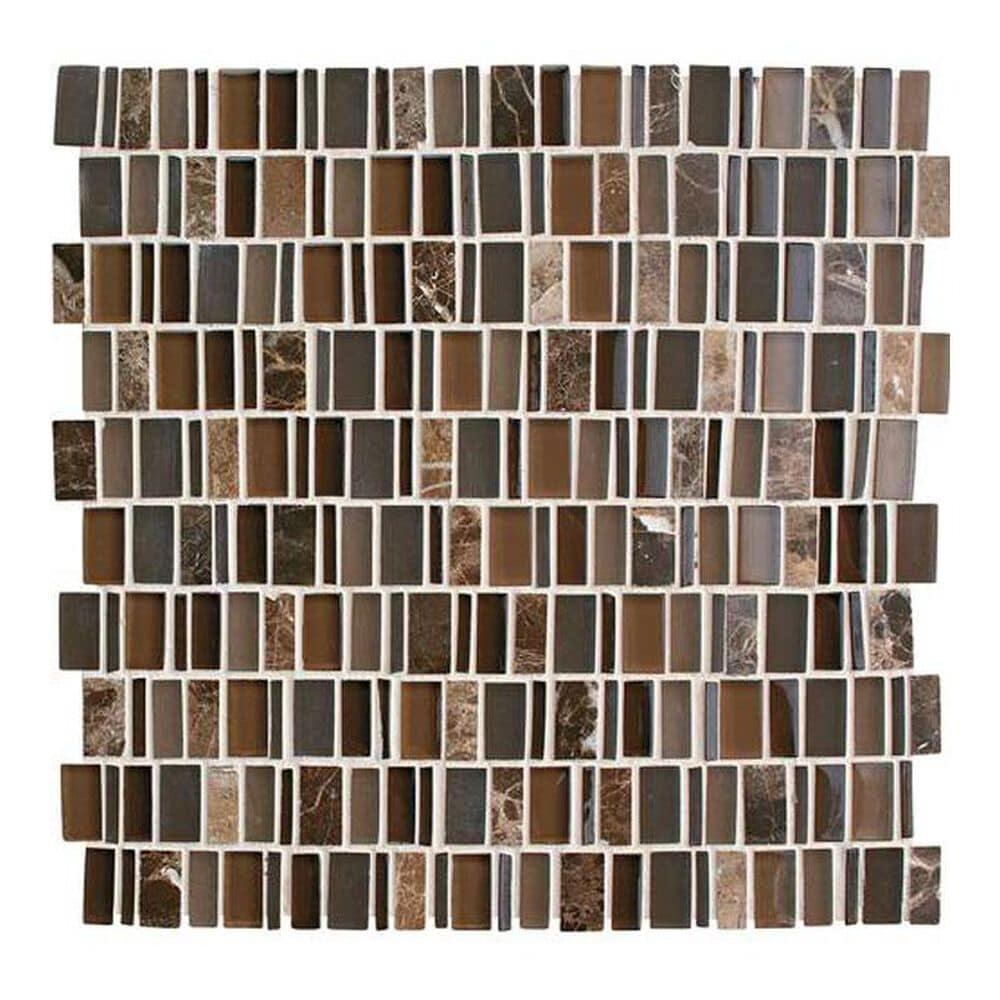 "Dal-Tile Clio Mosaics Eos 12"" x 12"" Glass and Stone Mosaic Sheet, , large"