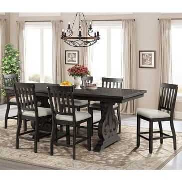 Mayberry Hill Stone 7-Piece Counter Set in Smokey Dark Ash, , large