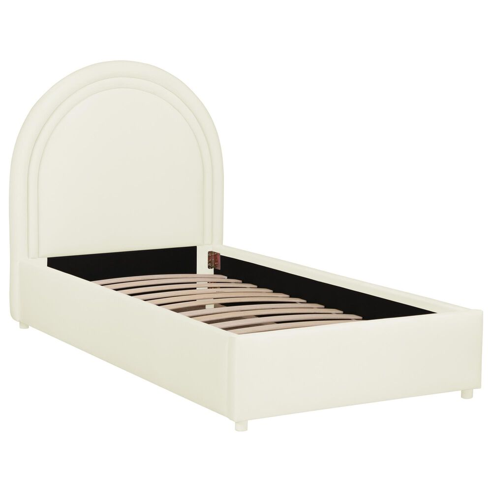 Tov Furniture Gumdrop Twin Upholstered Bed in Cream, , large