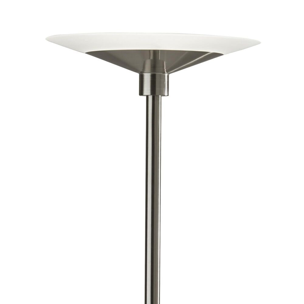 Adesso Solar LED Torchiere in Brushed Steel, , large