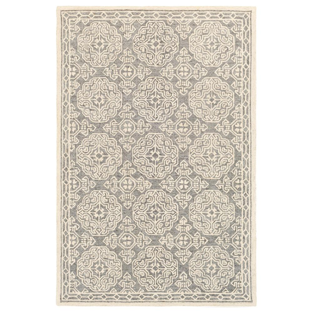 Surya Granada GND-2304 2' x 3' Medium Gray, Beige and Charcoal Scatter Rug, , large