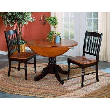 A-America British Isles Drop Leaf Table in Black and Oak - Table Only, , large