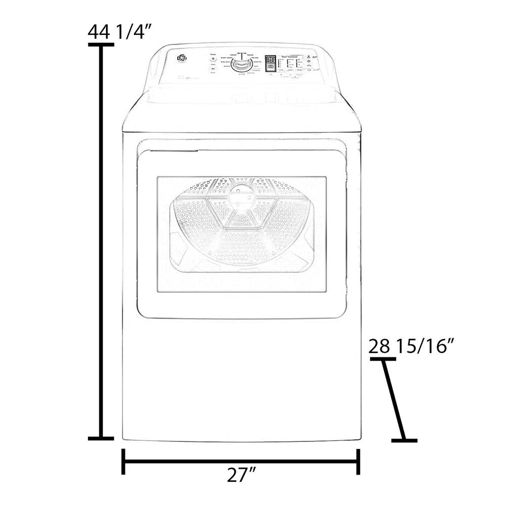 LG 7.3 Cu. Ft. Rear Control Front Load Dryer in Graphite Steel , , large