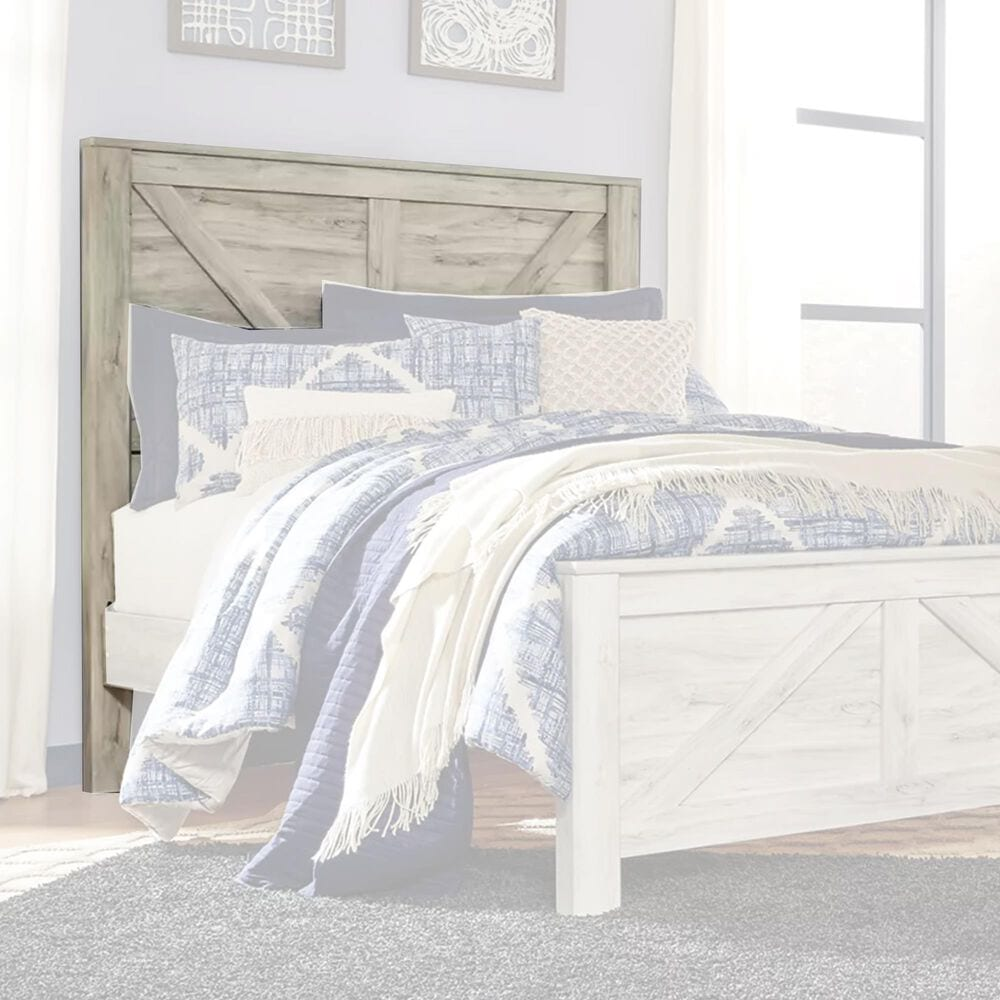 Signature Design by Ashley Bellaby Queen Panel Headboard in Whitewash, , large