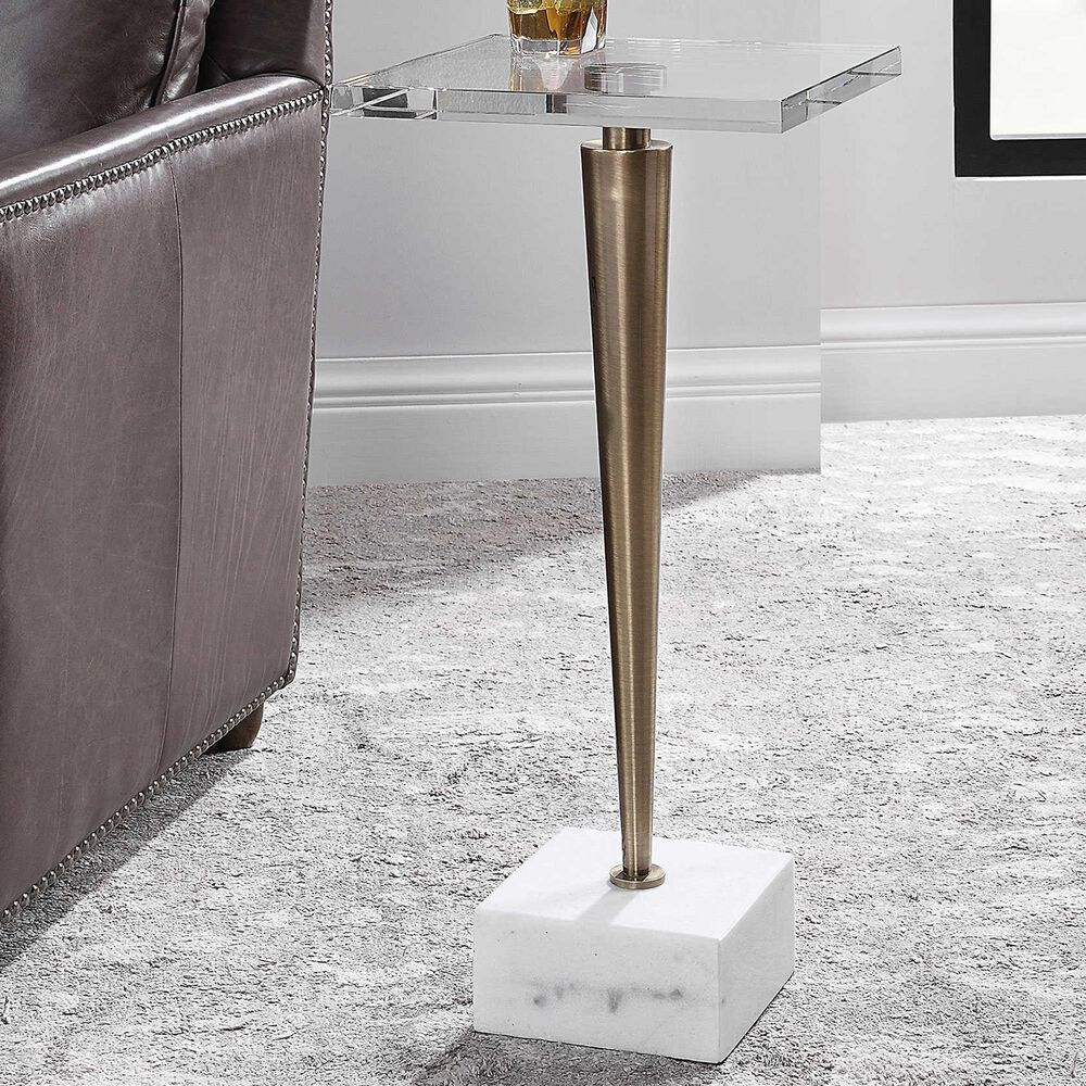 Uttermost Campeiro Drink Table in Gold , , large