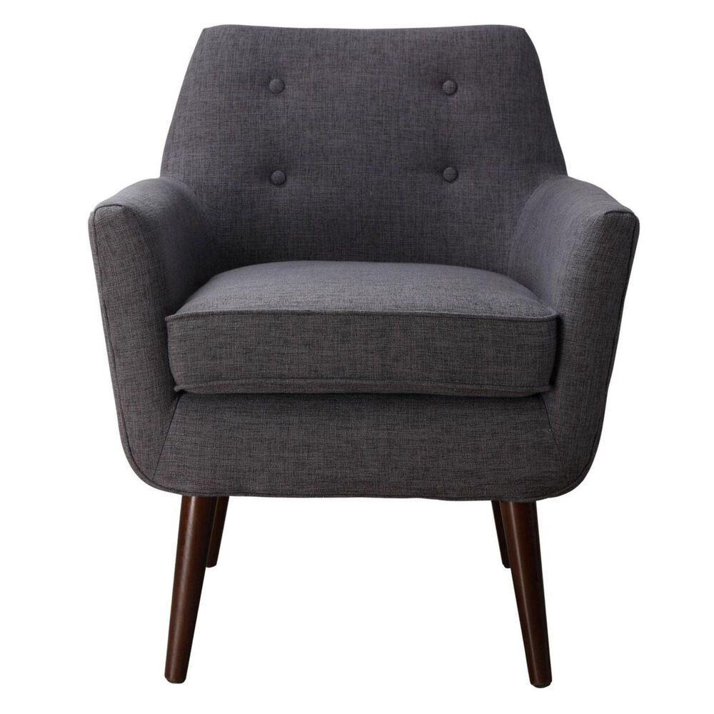Tov Furniture Clyde Linen Chair in Grey , , large