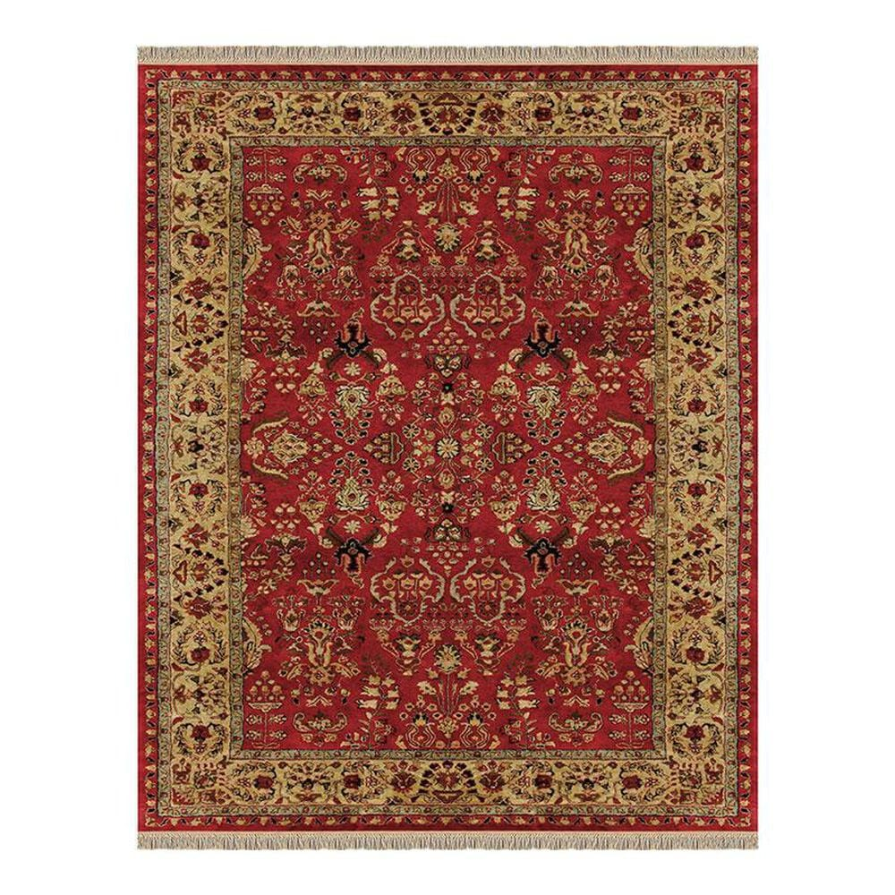 Feizy Rugs Amore 8327F 8' x 11' Red/Light Gold Area Rug, , large