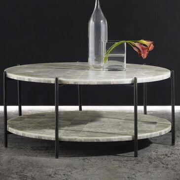 Hooker Furniture Melange Blythe Coffee Table in White Onyx, , large