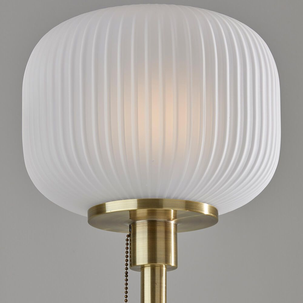 Adesso Hazel Floor Lamp in Antique Brass, , large