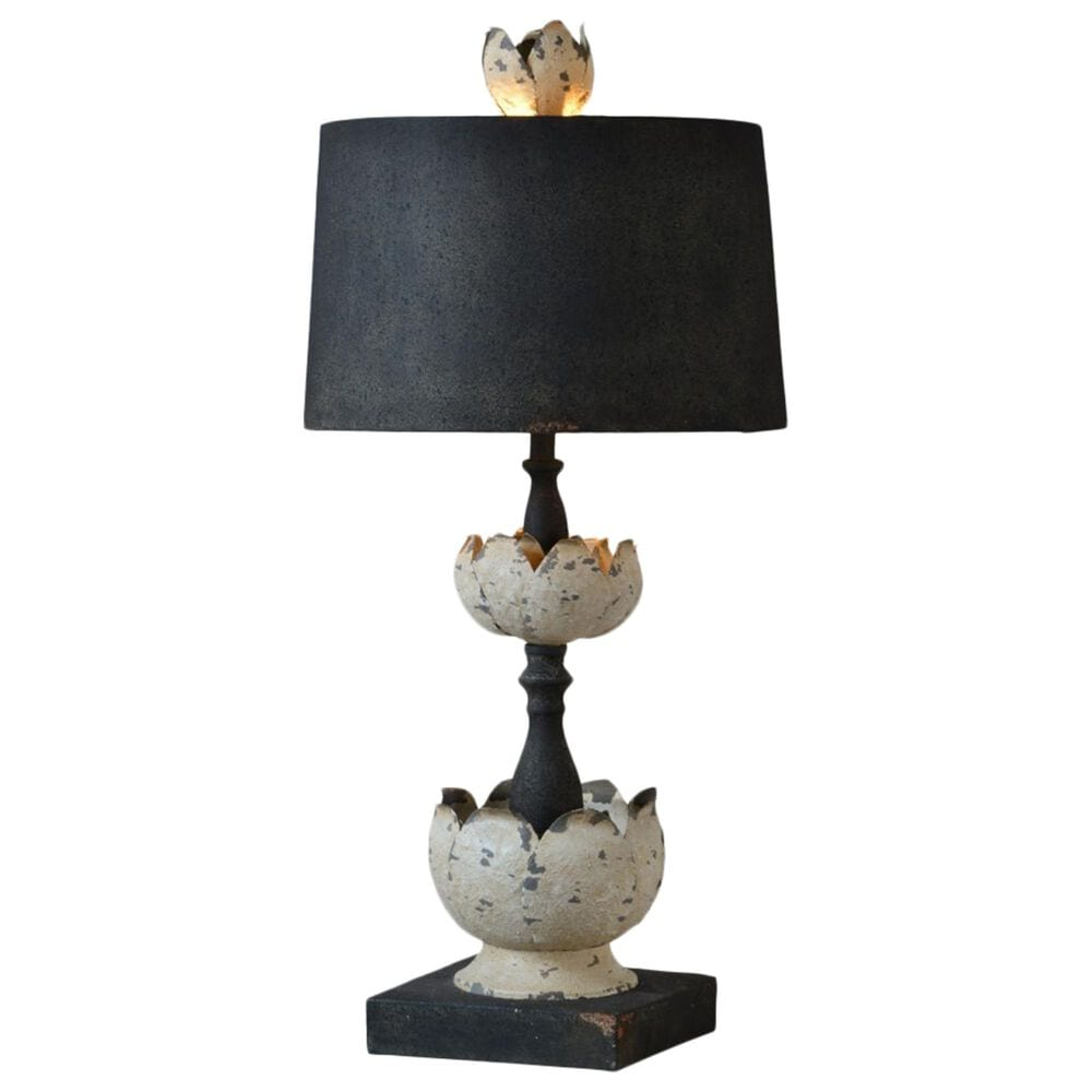 Southern Lighting Hallie Table Lamp in White and Black, , large