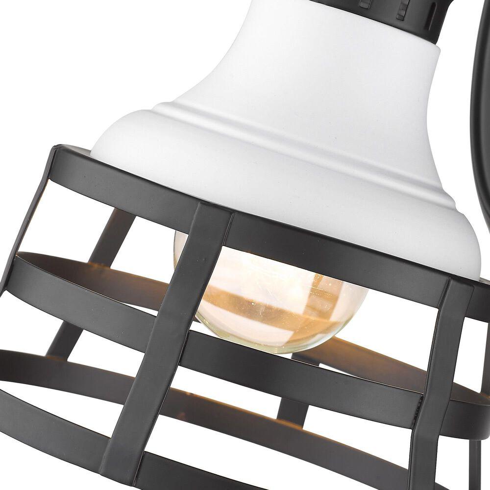Golden Lighting Locklyn 1-Light Wall Sconce in Matte Black, , large