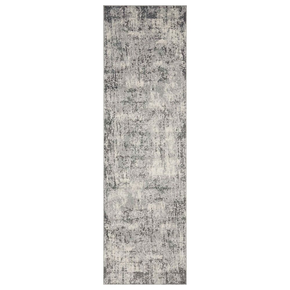 "Loloi II Austen 2'4"" x 8' Pebble and Charcoal Runner, , large"