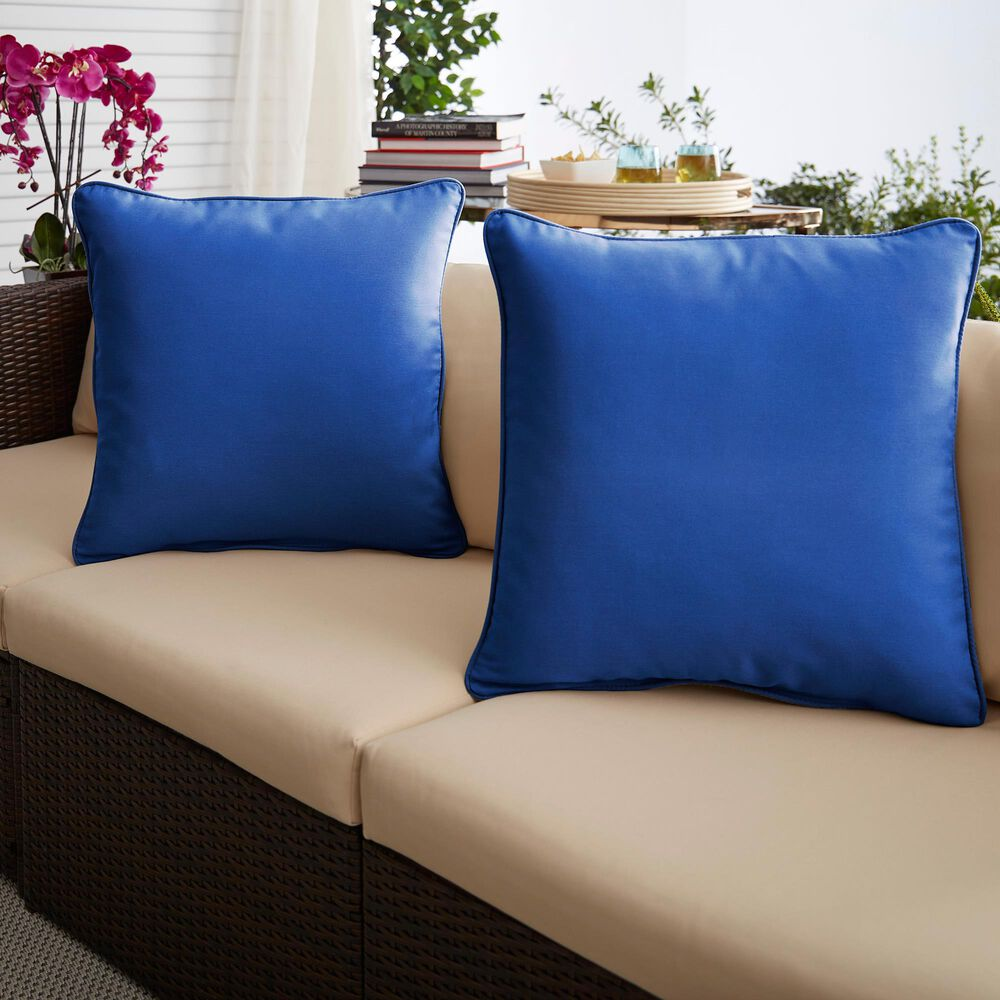 "Sorra Home Sunbrella 18"" Pillow in Canvas True Blue (Set of 2), , large"