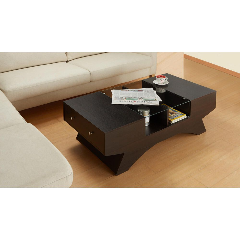 Furniture of America Acosta Coffee Table in Walnut, , large