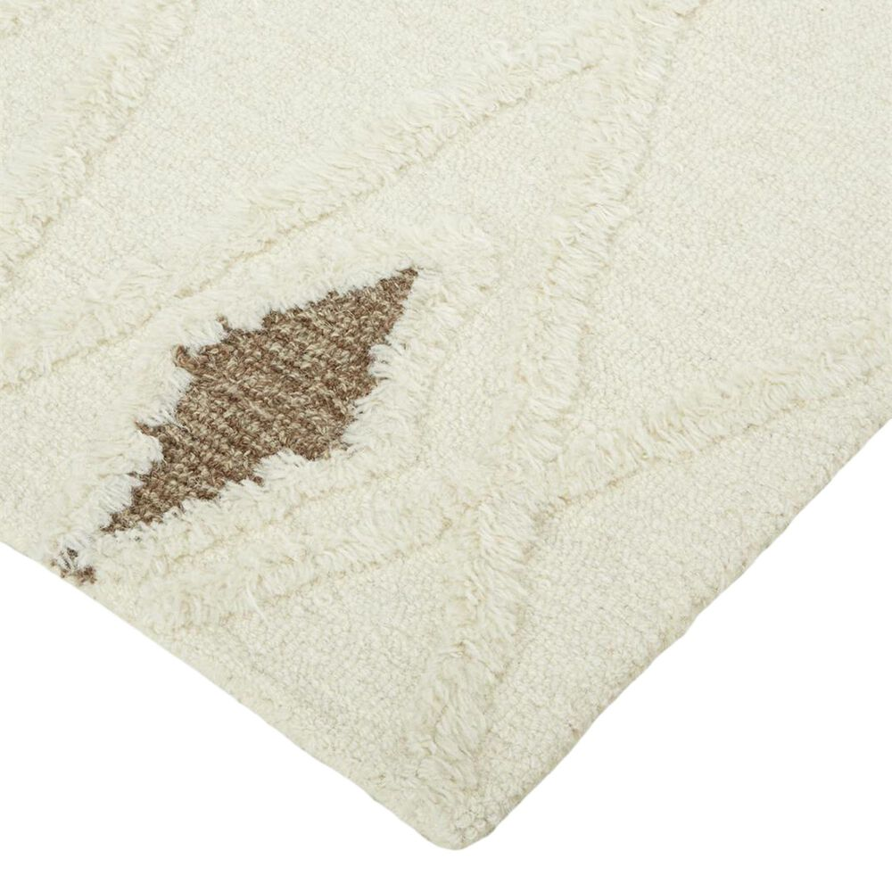 Feizy Rugs Anica 5' x 8' Ivory and Brown Area Rug, , large