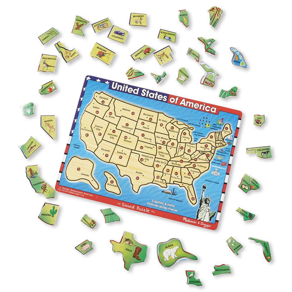 Melissa & Doug 40-Piece United States of America Sound Puzzle Set, , large