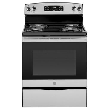 """GE Appliances 30"""" Self-Clean Electric Range in Stainless Steel, , large"""