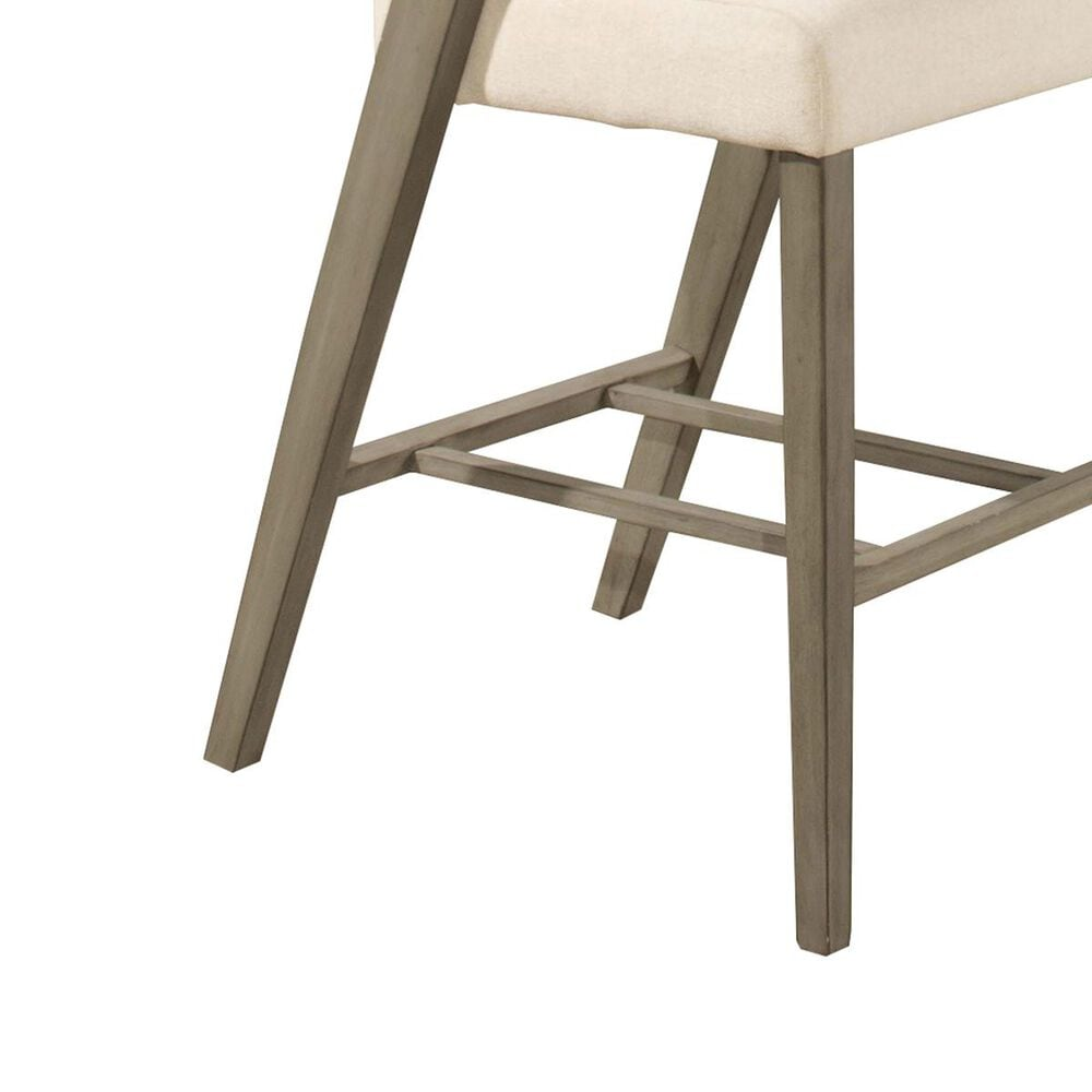 """Richlands Furniture Snyder 26"""" Counter Stool with Ecru Seat in Aged Gray, , large"""