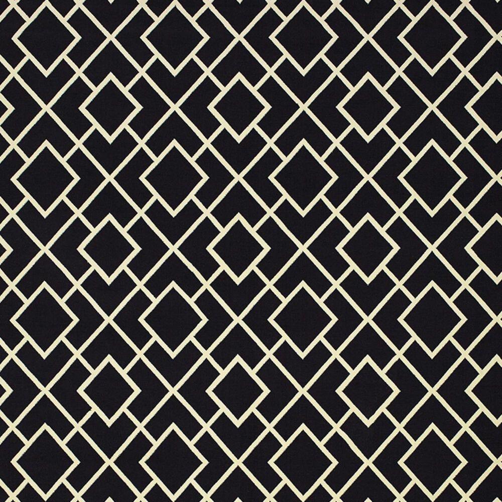 "Oriental Weavers Luna 8123B 2'3"" x 7'6"" Black and Ivory Runner, , large"