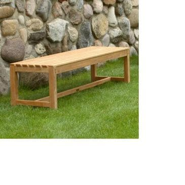 Three Birds Casual Charleston 6' Backless Bench in Natural Teak, , large