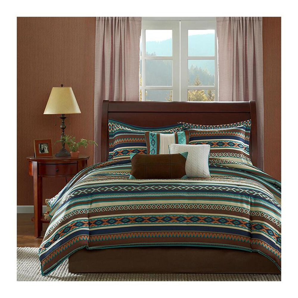 Goldstar Bedding Malone 7-Piece Queen Comforter Set in Chocolate and Ivory, , large