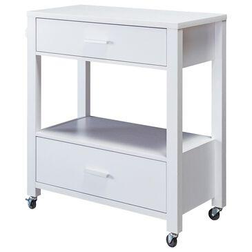 Furniture of America Hebert Kitchen Cart in White, , large