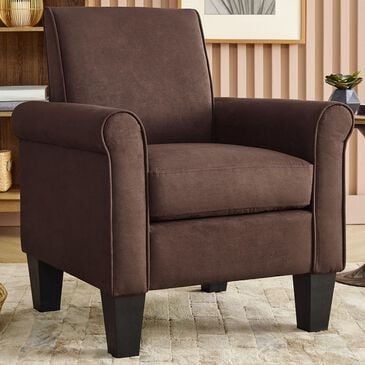 Lilola Home Angelo Armchair in Brown, , large