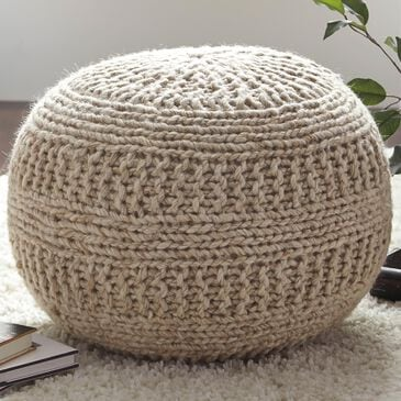 Signature Design by Ashley Benedict Pouf in Natural, , large