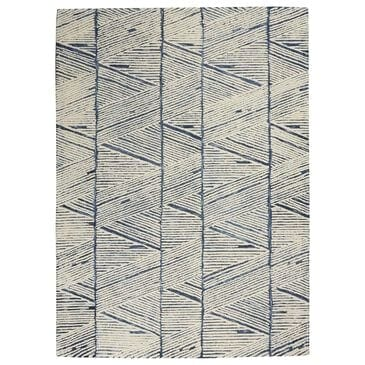 """Nourison Colorado 3""""9"""" x 5""""9"""" White and Blue Area Rug, , large"""