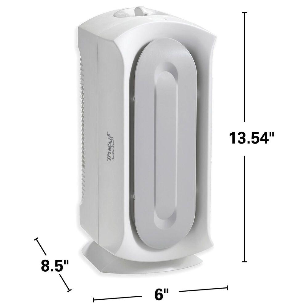 Hamilton Beach TrueAir Compact Air Purifier with Hepa Filter in White, , large