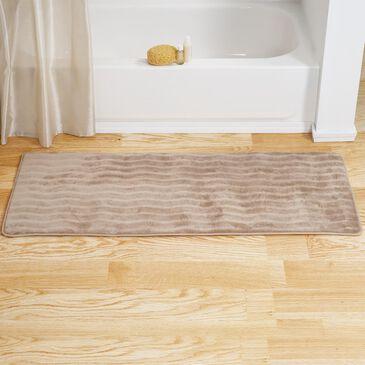 "Timberlake 24"" x 60"" Memory Foam Bath Rug Mat in Taupe, , large"