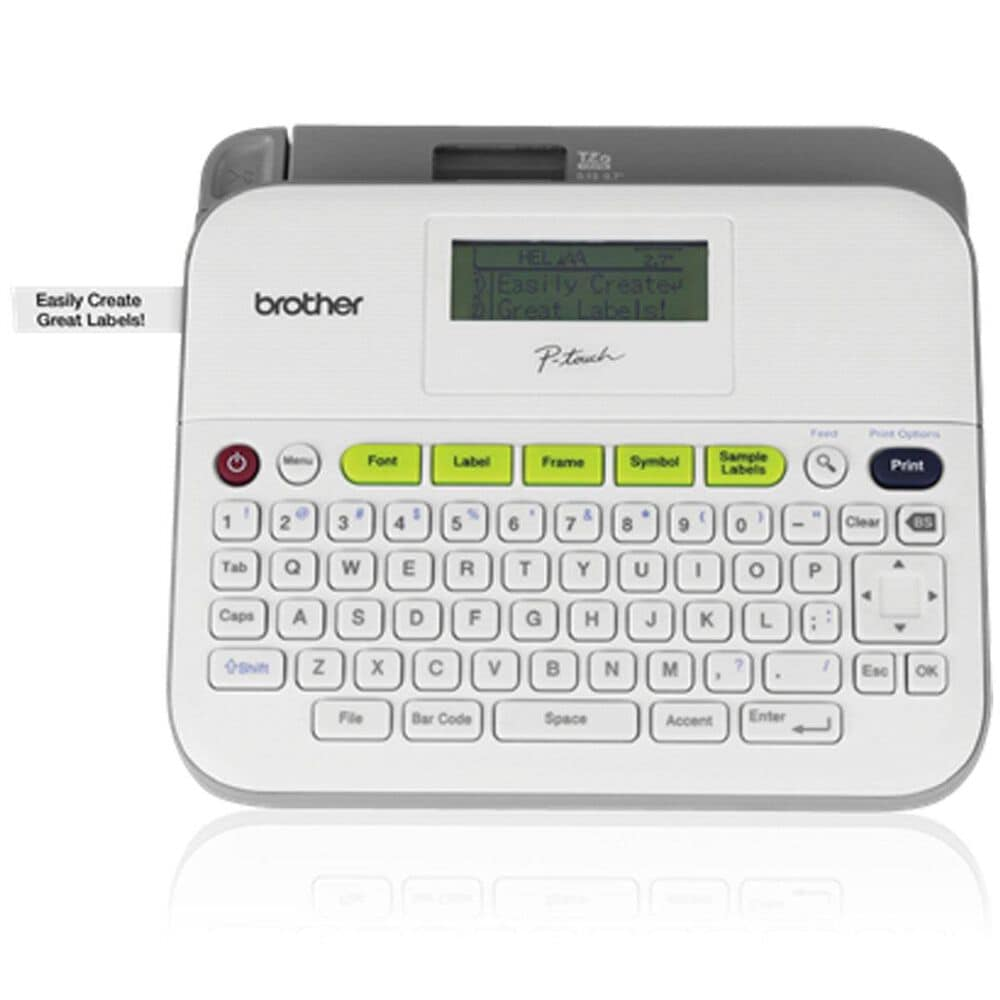 Brother P-Touch Versatile Label Maker in White and Light Gray, , large