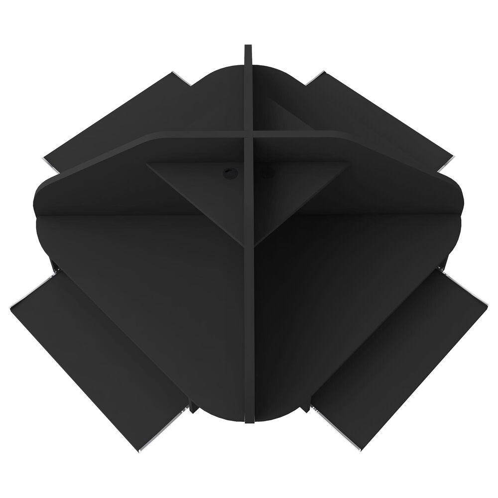 Dayton Bradley 4-Piece Sectional Cubicle Desk in Black, , large