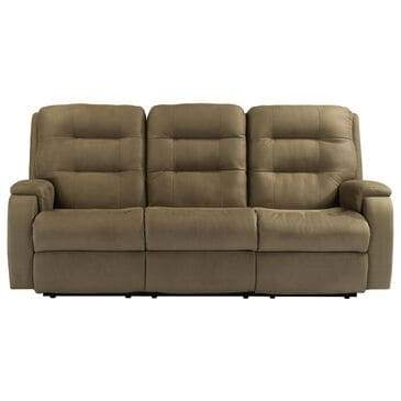 Flexsteel Arlo Power Reclining Sofa with Headrest and Lumbar in Fossil, , large