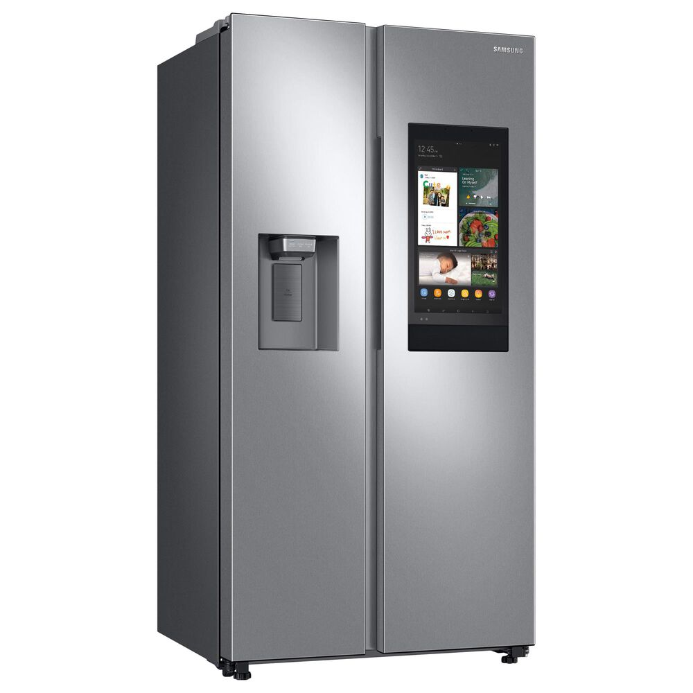 Samsung 4-Piece Kitchen Package with 22 Cu. Ft. Side-by-Side Refrigerator and Gas Range in Stainless Steel, , large