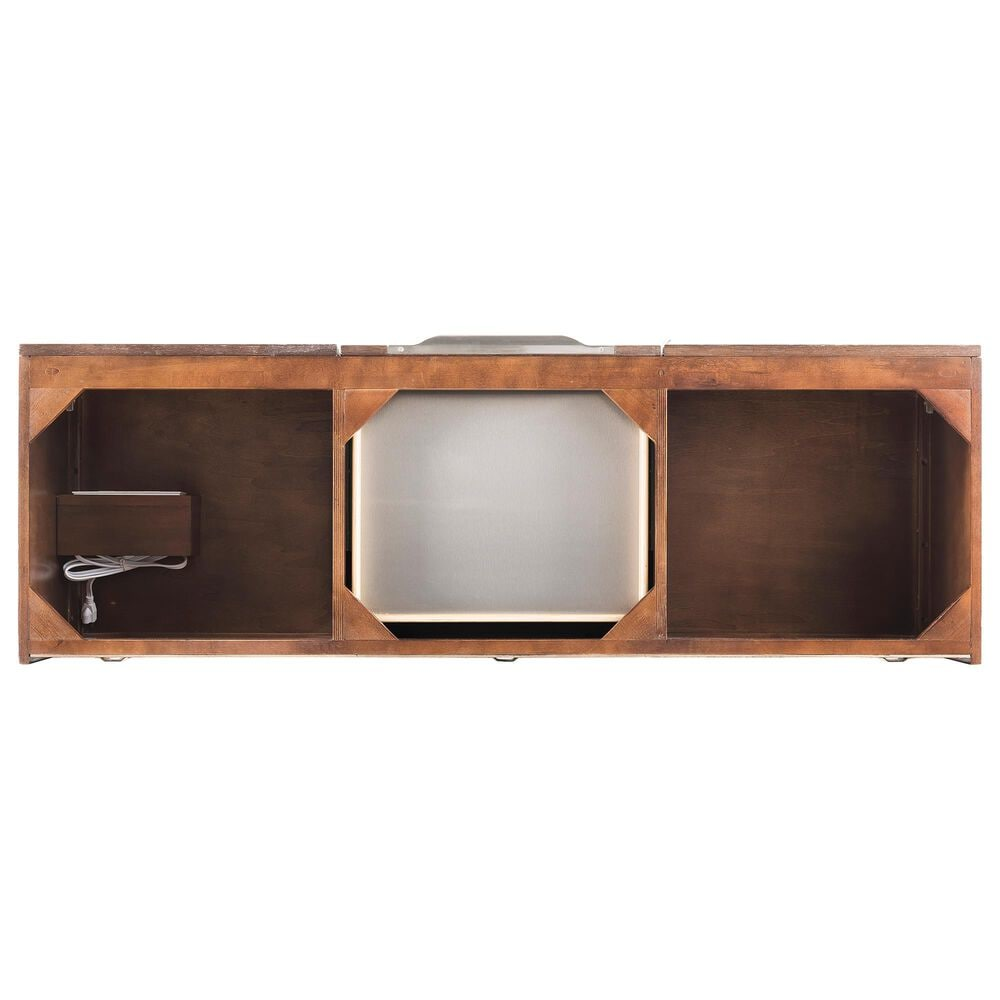 "James Martin Mercer Island 59"" Double Bathroom Vanity Cabinet in Coffee Oak with Brushed Nickel Hardware, , large"