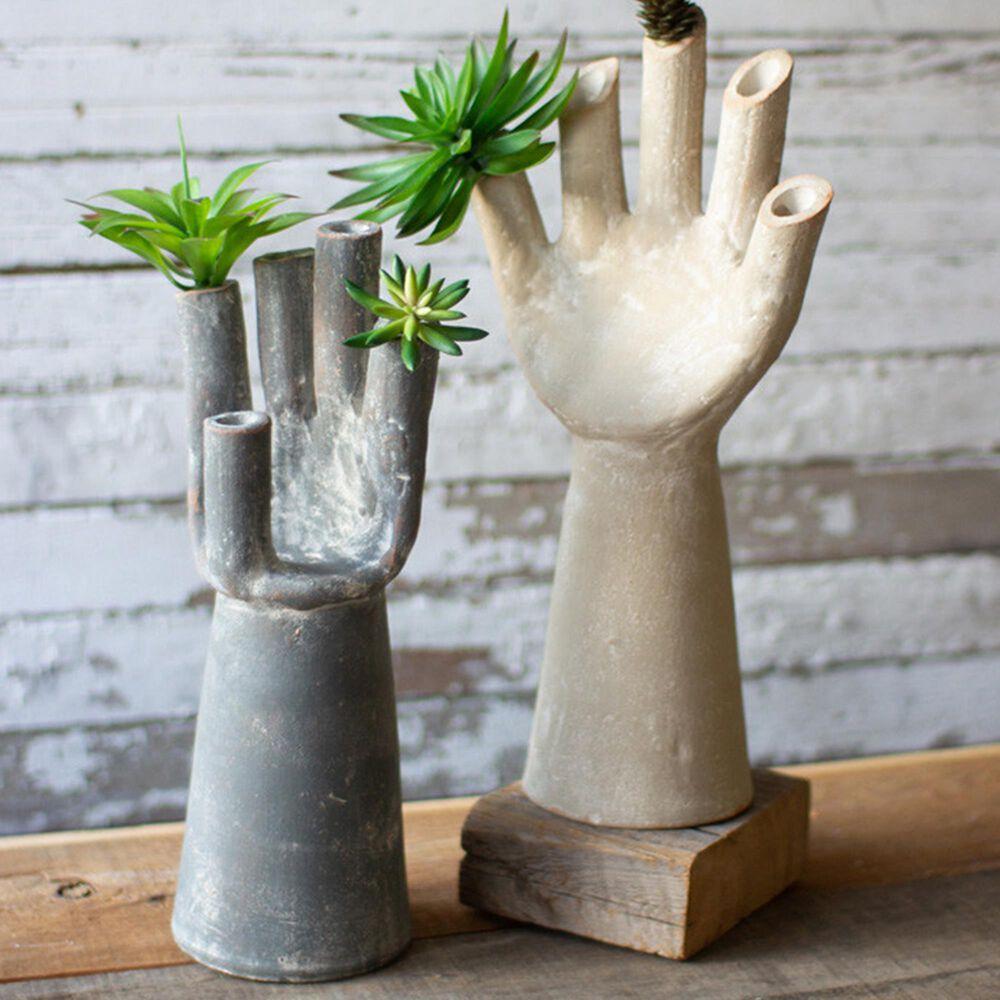 Kalalou Clay Hand Vase (Set of 2), , large