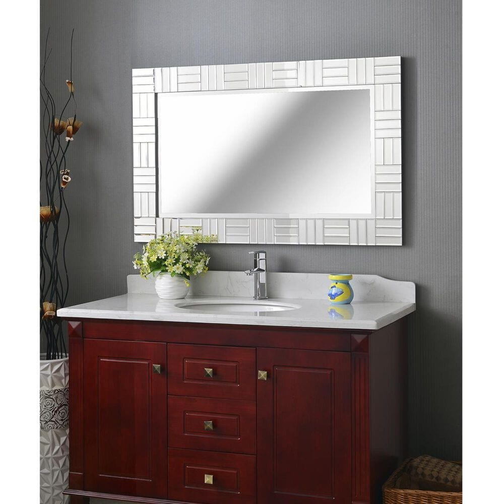 Kenroy Sparkle Wall Mirror in Glass, , large
