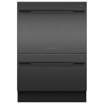 Fisher and Paykel Double Dish Drawer in Black Stainless Steel, , large